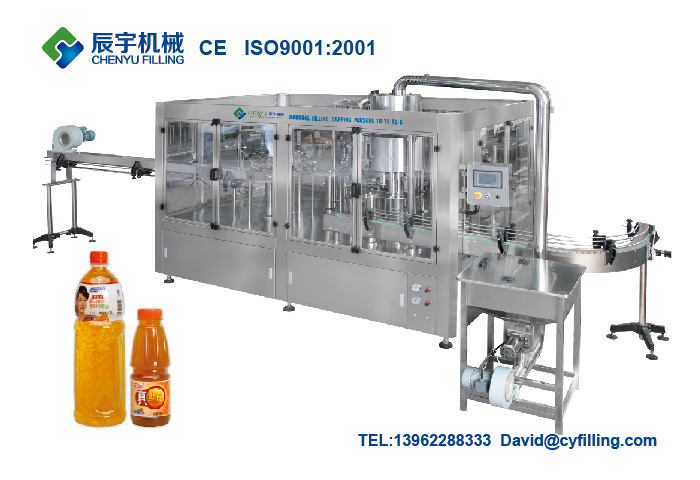 Juice Filling Machine(Washing-Filling-Juice Filling-Capping 4-In-1)