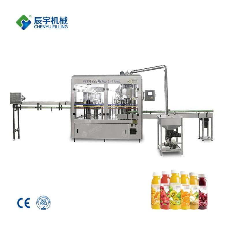 Automatic 3 In 1 Juice Bottling Line